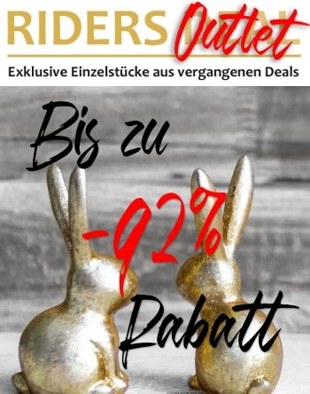 Oster-Aktion: Bis zu 92 % Rabatt im Riders Deal Outlet