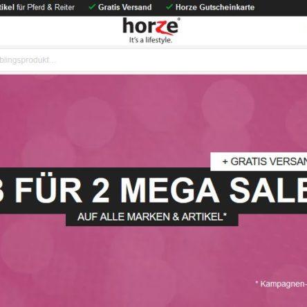 Mega Sale bei Horze – 3 für 2 auf alle Produkte und Marken