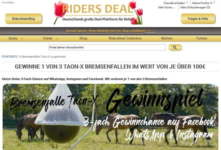 RidersDeal verlost 3x Taon-X Bremsenfalle im Wert von je über 100 €