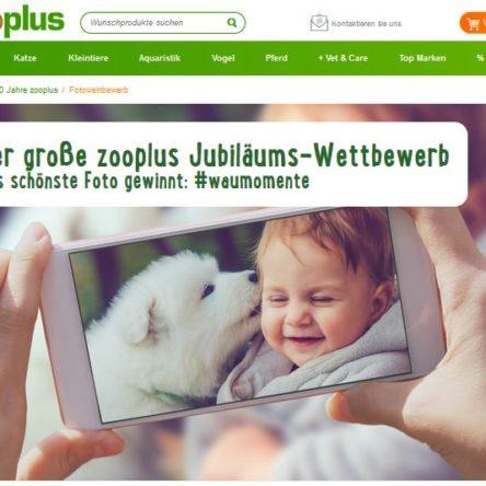 zooplus Jubiläums-Fotowettbewerb