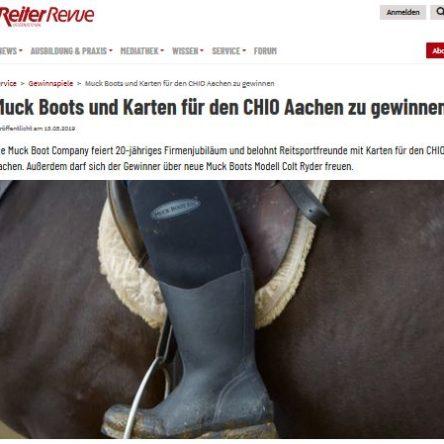 Muck Boots und Karten für den CHIO Aachen zu gewinnen