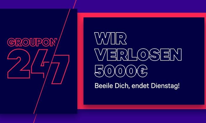 Groupon verlost 5 x 1.000 € Guthaben