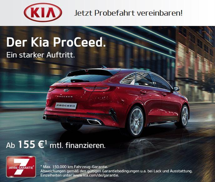 Kostenlose Probefahrt mit dem Kia ProCeed