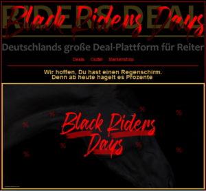 Black Riders Days zum Black Friday bei RidersDeal
