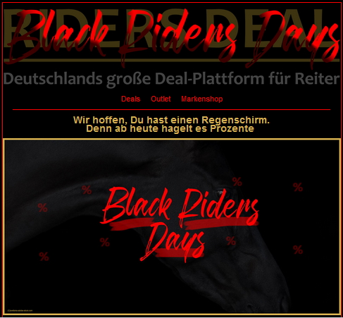 Black Riders Days – Bis zu 90 % Rabatt