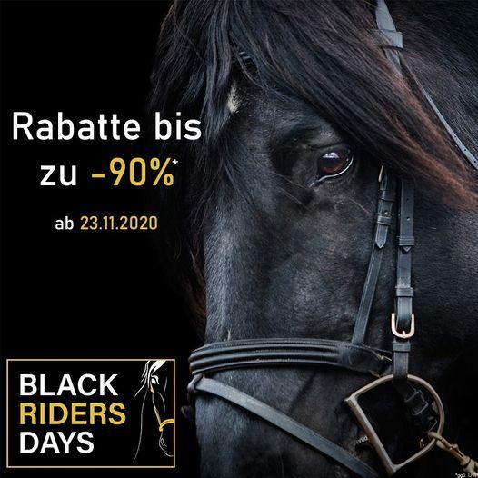 Black Riders Days bis zu 90 % Rabatt