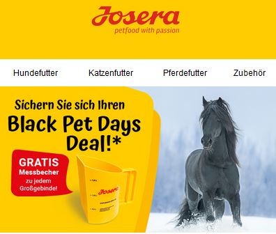 Josera Black Pet Days