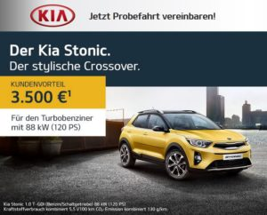 Der Kia Stonic - stylischer Crossover - Jetzt Probefahrt vereinbaren!
