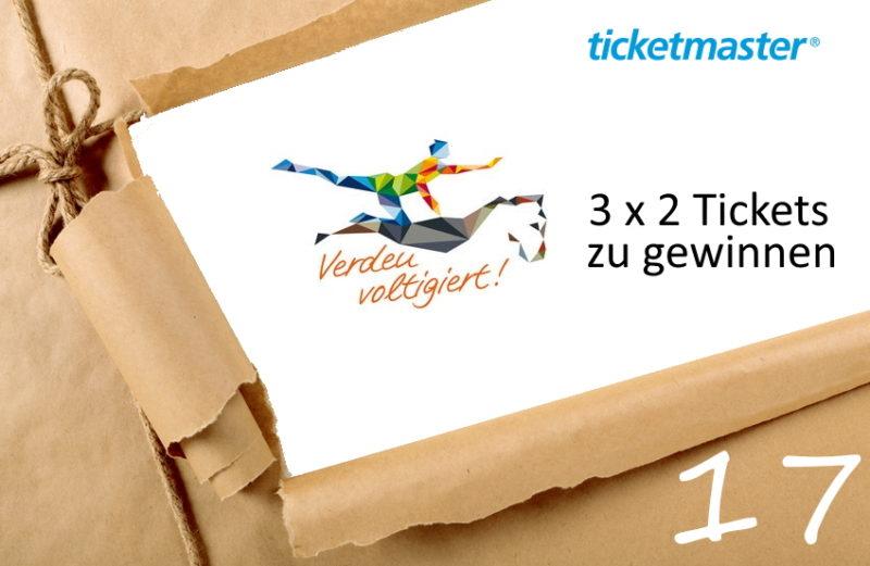 Adventskalender 2019 - Tag 17 - Tickets Deutsche Meisterschaft Voltigieren Verden