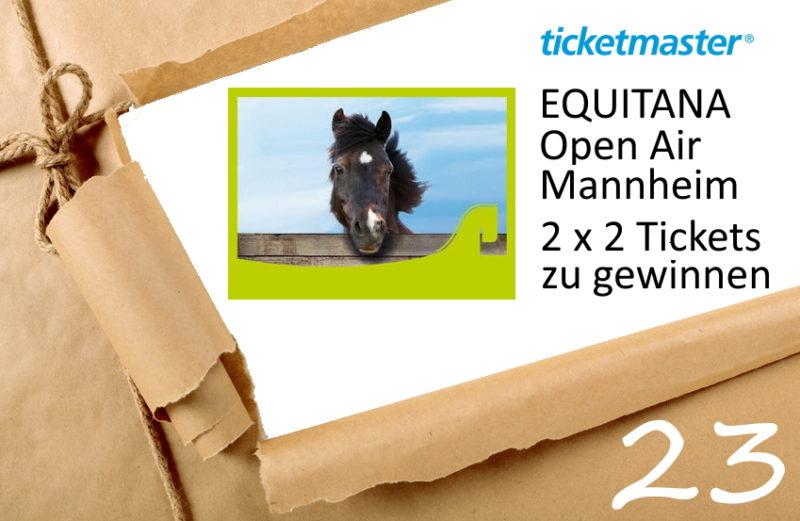 Adventskalender Türchen 23/2019 Tickets EQUITANA Open Air zu gewinnen