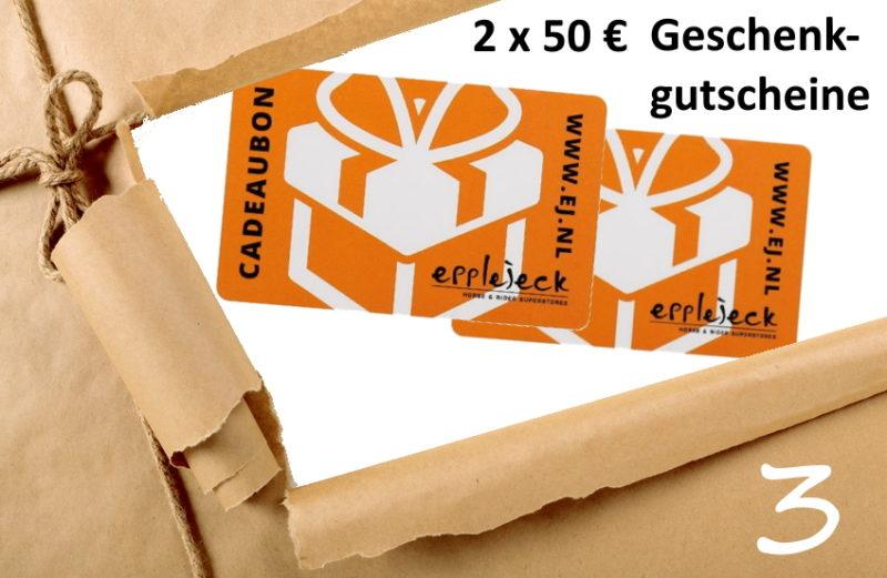 Adventskalender Türchen 3/2019 - 2 x 50 € Geschenkgutschein Epplejeck
