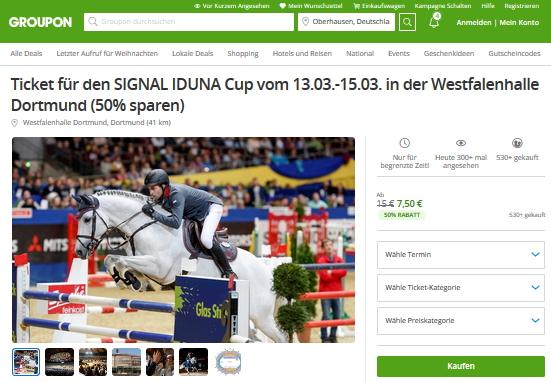 Tickets Signal Iduna Cup bei Groupon