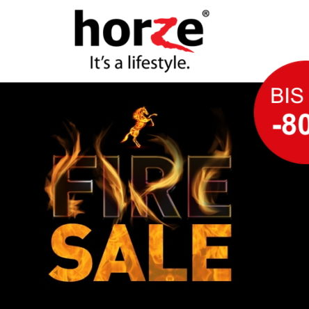 Horze Fire Sale – Bis zu 80 % Rabatt