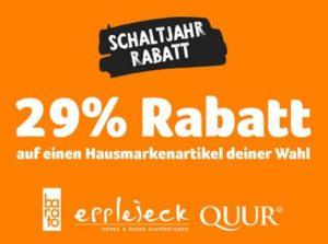 Epplejeck Schaltjahr-Rabatt 29 % Gutscheincode
