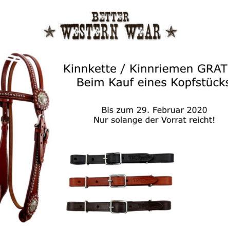 betterwesternwear.de Gutscheincodes & Aktion Kinnriemen / Kinnkette Gratis
