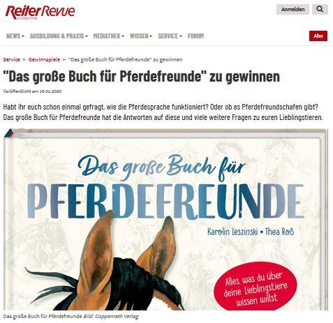Reiter Revue Gewinnspiel Das große Buch für Pferdefreunde