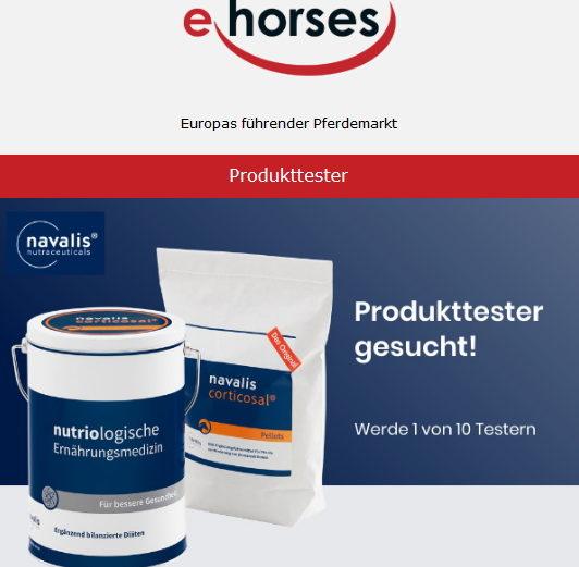 ehorses sucht 10 Produkttester für navalis corticosal