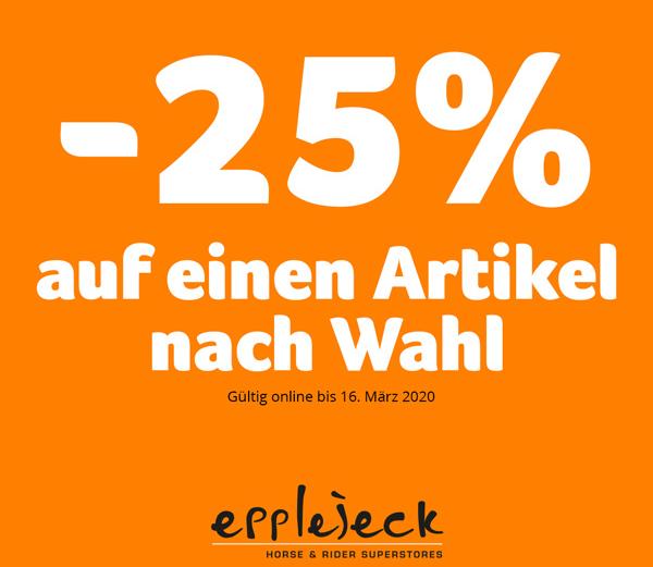 Epplejeck 25 % Rabattcode