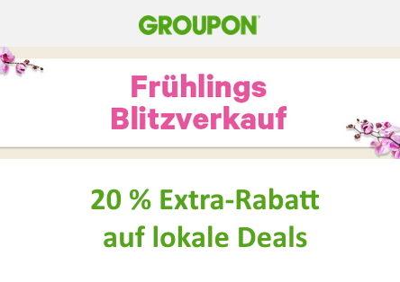 Bis zu 30 % Extra-Rabatt auf lokale Deals bei Groupon