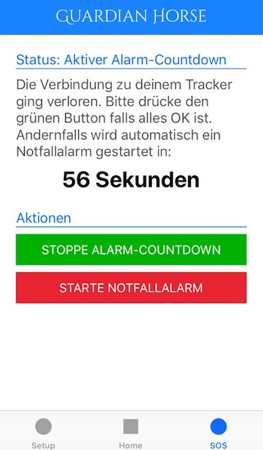 Guardian Horse Notfall-Countdown - Screenshot