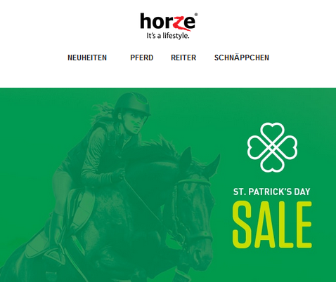 Horze St. Patrick's Day Sale