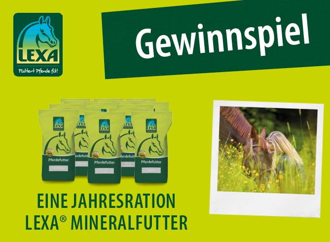 LEXA Pferdefutter Gewinnspiel Mineralfutter Jahresration