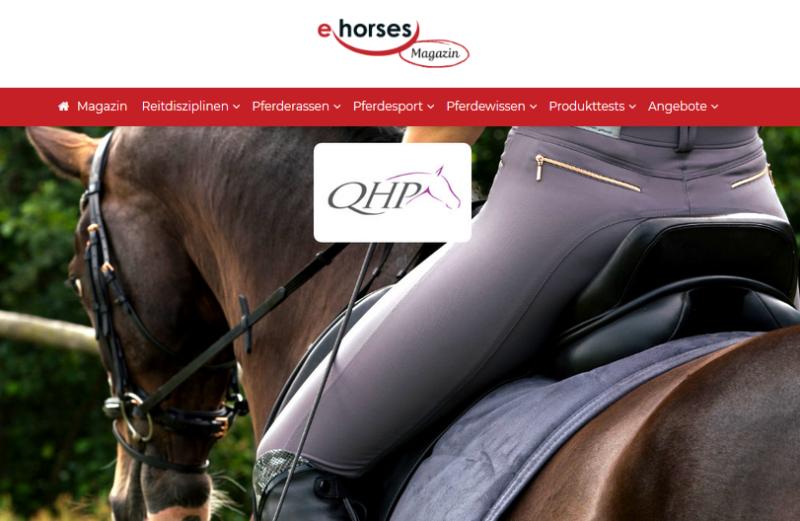 ehorses sucht Produkttester für QHP Reithose Saona