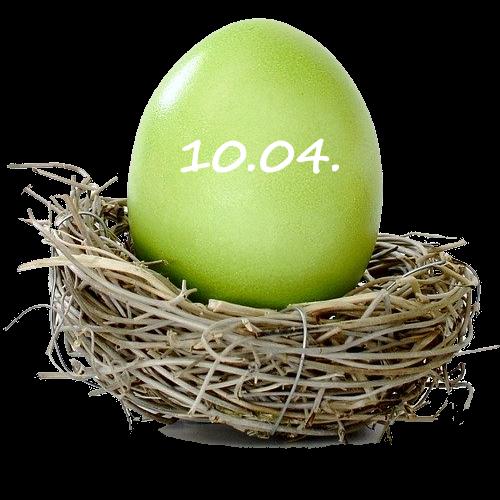 Osterei grün 10. April 2020
