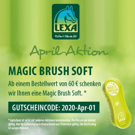 LEXA Pferdefutter: Gutscheincode im April