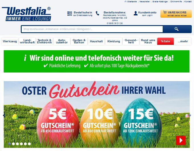 Westfalia Oster-Gutschein