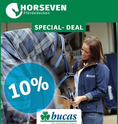 Horseven Special Deal: 10 % Rabatt auf bucas Pferdedecken