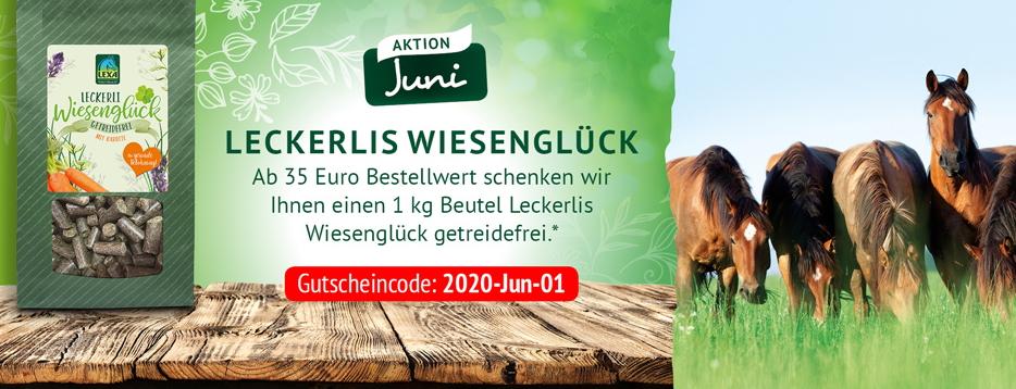 LEXA Pferdefutter Aktion im Juni - Leckerli GRATIS