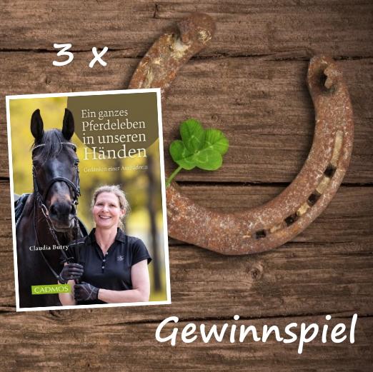 """Gewinnspiel 3 x das Buch """"Ein ganzes Pferdeleben in unseren Händen"""
