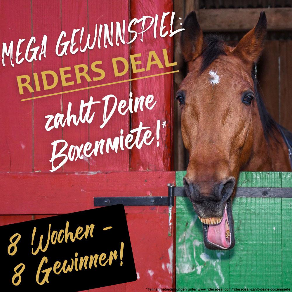 Mega Gewinnspiel: Ridersdeal bezahlt deine Boxenmiete bis zu 500 €