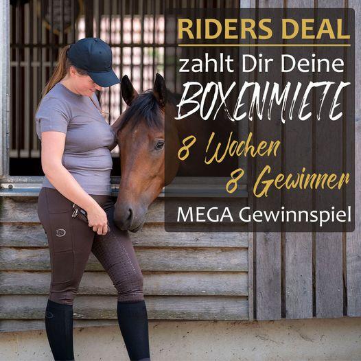 Gewinnspiel: RidersDeal zahlt Dir Deine Boxenmiete - 8 Wochen - 8 Gewinner