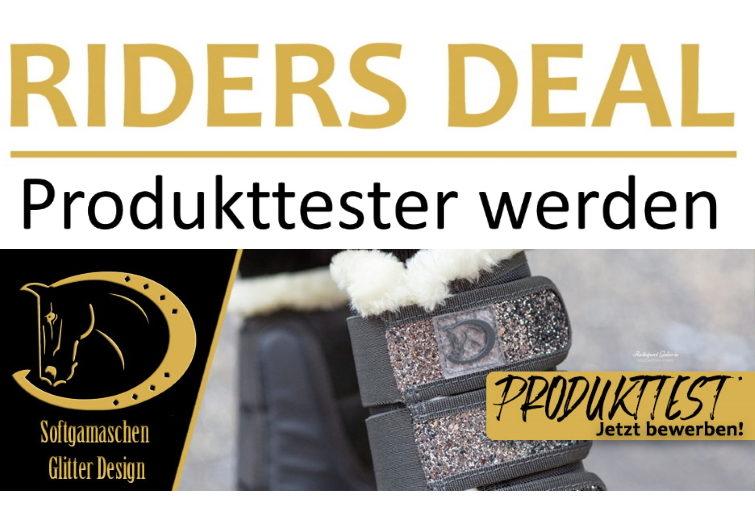 RidersDeal sucht Produkttester für Softgamaschen Glitter Design