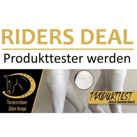 RidersDeal sucht 5 Produkttester für die RidersChoice Turnierreithose Glitter Design