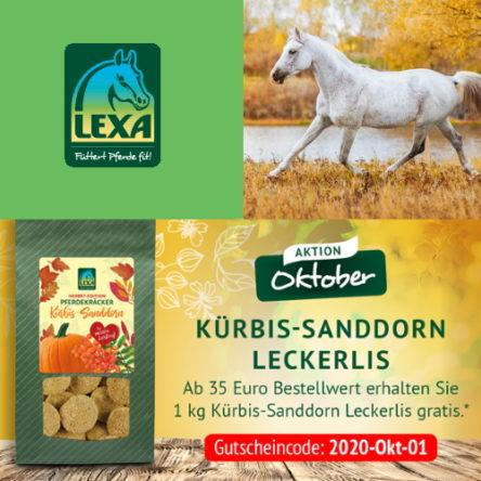 LEXA Pferdefutter: Gutscheincode im Oktober