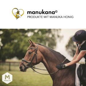 manukana Produkte mit manuka Honig für Pferde