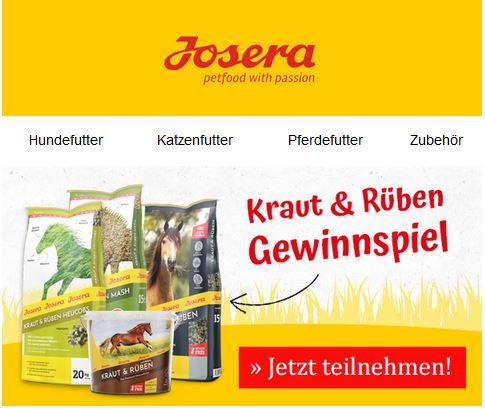 Josera Kraut & Rüben Gewinnspiel