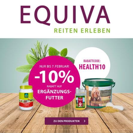 EQUIVA Gutscheincode: 10 % Rabatt auf Ergänzungsfutter