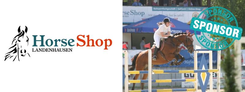 Horse-Shop Sponsoring Reitturnier