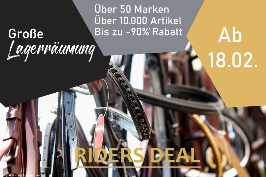 RidersDeal Lagerräumung ab 18. Februar 2021