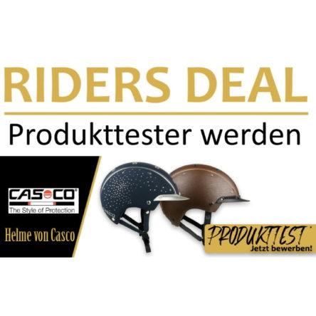 RidersDeal sucht 2 Produkttester (m/w/d) für Reithelme von Casco