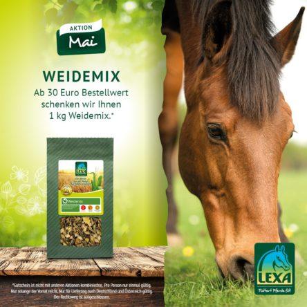 LEXA Pferdefutter: Gutscheincode im Mai – Weidemix gratis