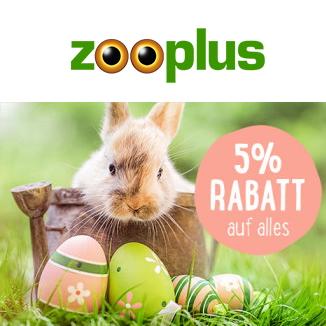 zooplus Gutschein-Code: 5 % Rabatt auf alles
