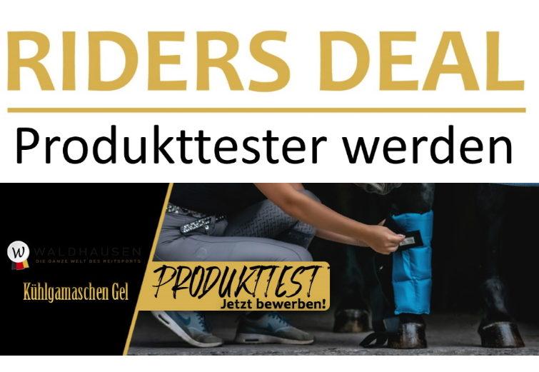 RidersDeal Produkttest Kühlgamaschen Gel von Waldhausen