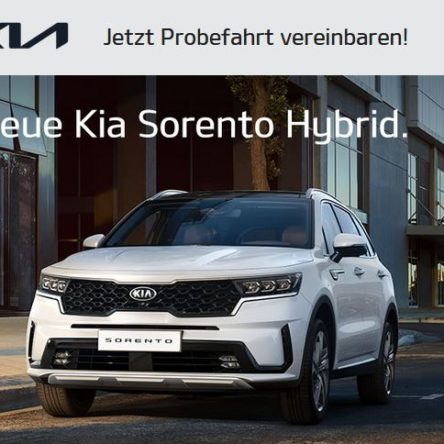 Kostenlose Probefahrt mit dem KIA Sorento Hybrid, Kia Sportage, KIA XCeed sowie XCeed Plugin-Hybrid