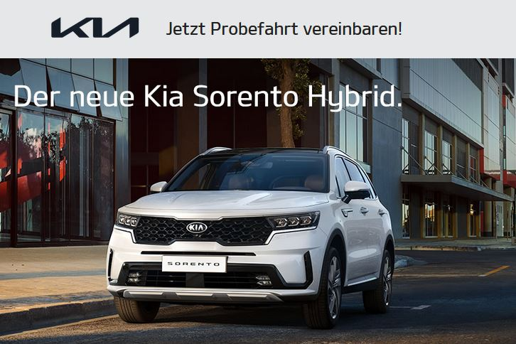 Kia Sorento Hybrid Probefahrt 2021