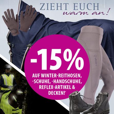 EQUIVA – Zieht euch warm an! -15 % auf ausgewählte Artikel für den Winter!